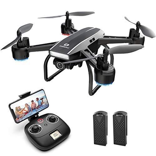 DEERC D50 FPV Drohne mit 2K Kamera HD 120° FOV 1080P WiFi Live Übertragung,RC Quadrocopter mit 2 Akkus Lange...
