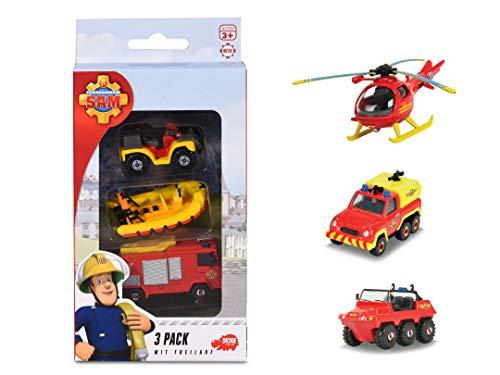 Dickie Toys Feuerwehrmann Sam 3 Pack, Set mit 3 verschiedenen...