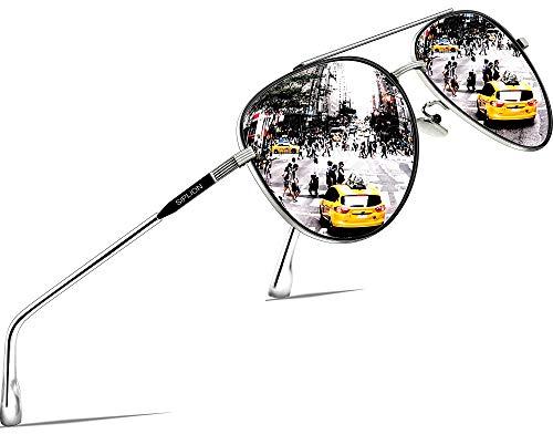SIPLION Unisex Polarisiert Sonnenbrille Herren Damen Pilotenbrille...