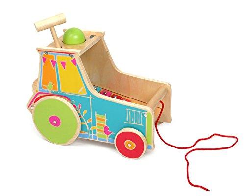 small foot 10377 Traktor inkl. Xylophon aus Holz mit Klopfspiel und...