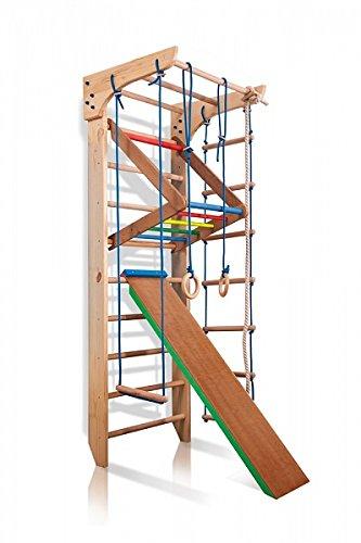 Turnwand Kinder Gym Klettergerüst ˝Kinder-3-220-Farbe˝ Holz...