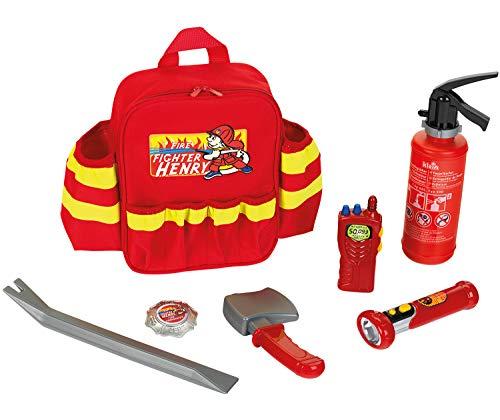 Theo Klein 8900 Fire Fighter Henry Feuerwehr-Rucksack I Mit...