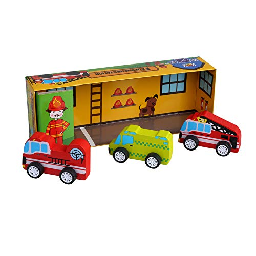 Barbo Toys 6430 Spielebox - Meine kleine Feuerwehr-Station (2-4 Jahre)...
