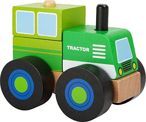 Small Foot 11073 Konstruktionsfahrzeug Traktor aus Holz, FSC...
