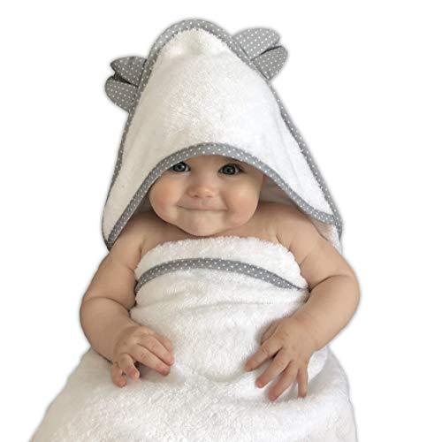 VABY Baby Handtuch mit Kapuze aus OEKO-TEX® Baumwolle und Bambus...
