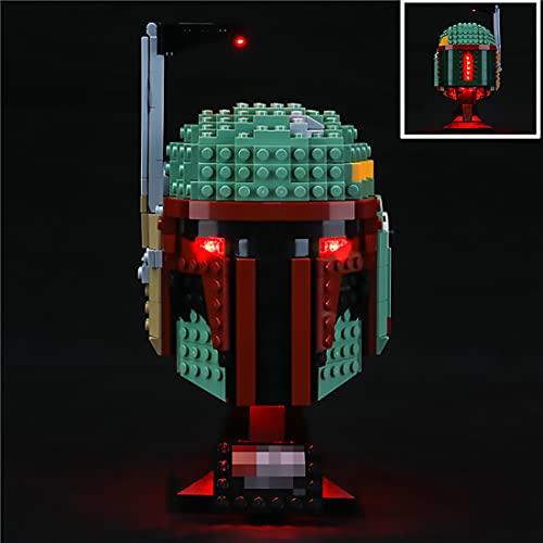 HSdiy Beleuchtung Set für Lego Star Wars Boba Fett Helm , Led Licht...