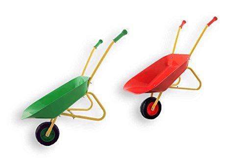 Fun Play Playfun - Kinder Schubkarre aus Metall Rot für die kleinen...