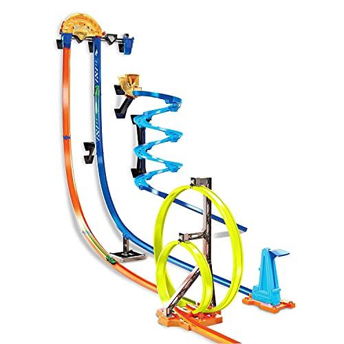 Hot Wheels GGH70 - Track Builder Senkrechtstarter Stunt-Set, Spielzeug...