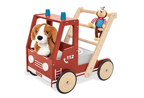 Pinolino Lauflernwagen Feuerwehrauto Fred, mit Bremssystem, gummierten...