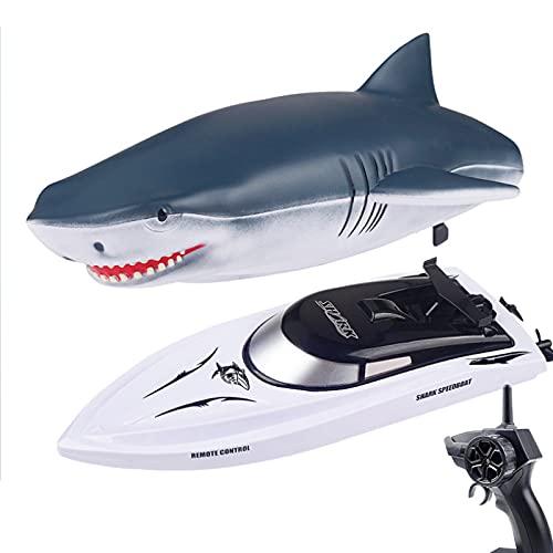 RC Boot Haifisch Spielzeug für Kinder, 2.4G ferngesteuertes...