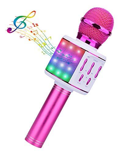 BlueFire Karaoke Mikrofon, Bluetooth Kinder Drahtloses Mikrofon Led...