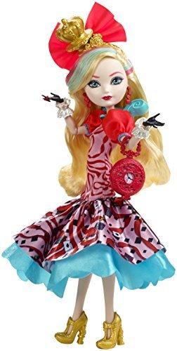 Mattel CJF42 Ever After High - Auf ins Wunderland Apple Puppe, weiß