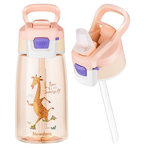 Newdora Trinkflasche Kinder Auslaufsicher, 480ml Kinder Trinkflasche...