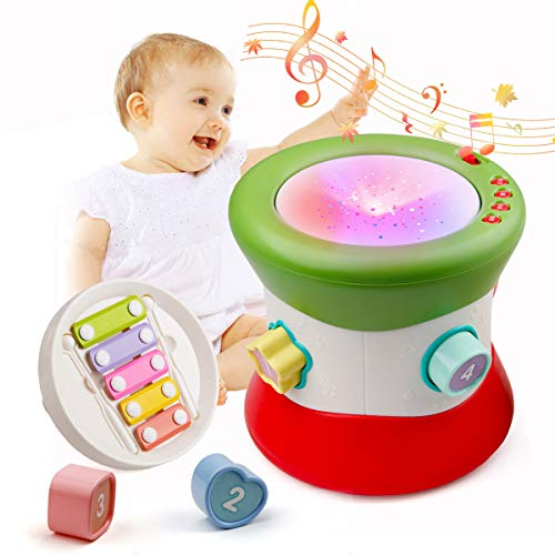 Mini Tudou Baby Handtrommel Musikspielzeug Musikinstrumente Bunt Licht...
