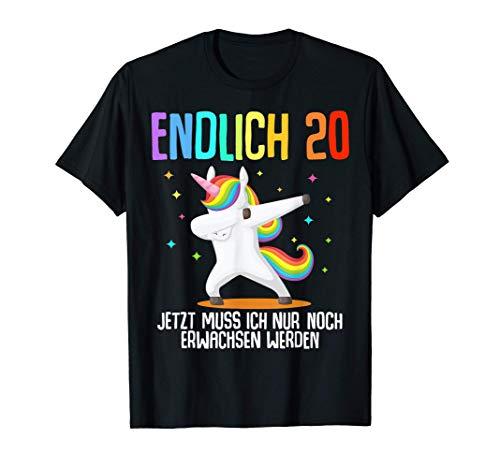 20. Geburtstag Frauen Männer 20 Jahre Einhorn 2000 Geschenk T-Shirt