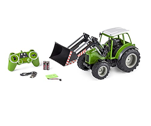 Carson 500907347 RC Traktor mit Frontlader 1:16 - Ferngesteuertes...