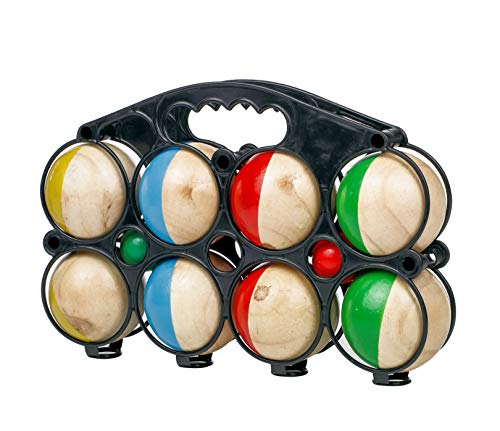 Spetebo Holz Boule Set mit Tragetasche - 8 Holz Kugeln - Boccia...