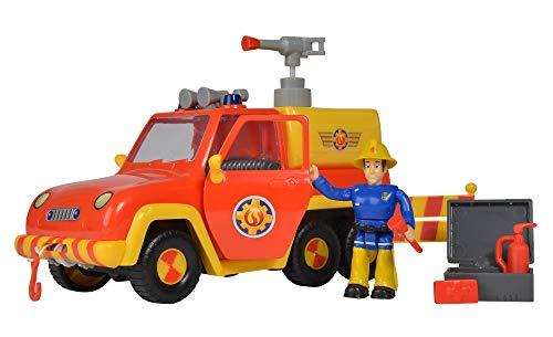 Simba 109257656 - Feuerwehrmann Sam Feuerwehrauto Venus, mit Elvis Figur, mit Originalsound und...