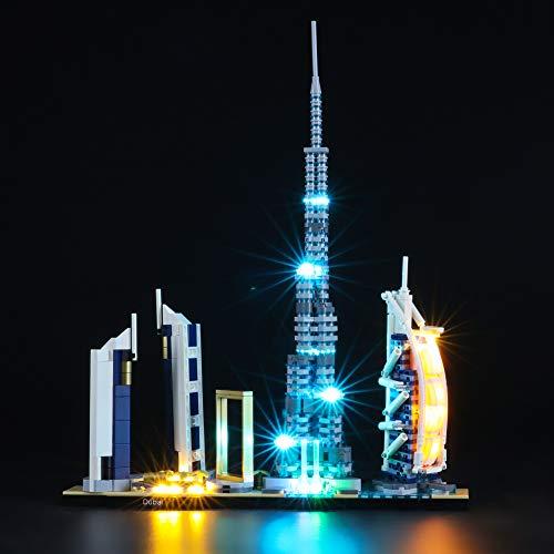 BRIKSMAX Led Beleuchtungsset für Lego Architecture Dubai,Kompatibel Mit Lego 21052 Bausteinen Modell - Ohne...