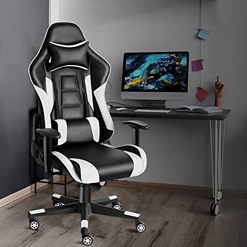 Twomaples Gaming Stuhl, Racing Computerstuhl Ergonomischer Bürostuhl,...