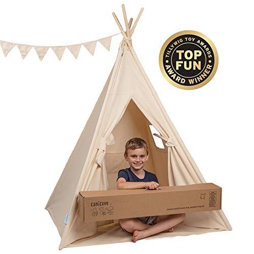 Canicove Tipi Zelt Für Kinder - Faltbares Indoor & Outdoor Set...