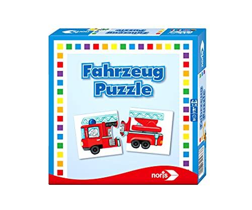 Noris 608985663 Fahrzeug Puzzle, das Memo Spiel mit bekannten...