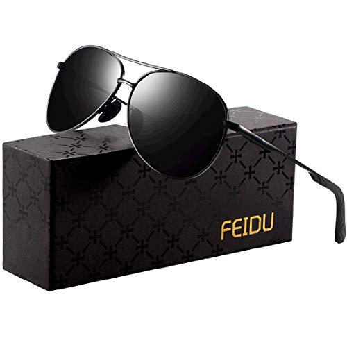 Sonnenbrille Herren Polarisierte Sonnenbrille Damen - Metallrahmen...