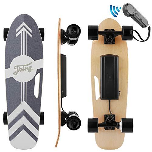 Nesaila 20km/h Elektrisches Skateboard, 7-lagiges Ahorn Longboard mit Fernbedienung, Skateboard für...