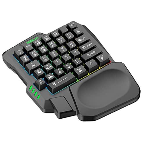 xzmnxzzme USB-Tastatur Einhändig kabelgebunden 35 Tasten Leuchtende...