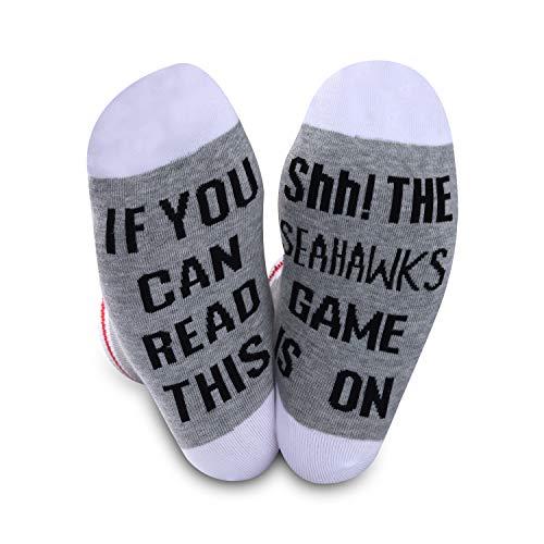 Seattle-Seahawks-Socken, Geschenk, American Football, lustiges...