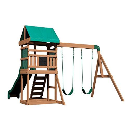 Backyard Discovery Spielturm Buckley Hill aus Holz   XXL Spielhaus...