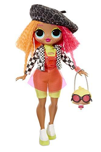 L.O.L. Surprise! 560579E7C O.M.G. Fashion Doll Neonlicious Q.T., Ankleide- und Sammelpuppe mit Haaren und 20...