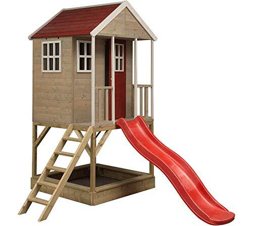 Wendi Toys Kinderspielhaus Frosch Spielturm inkl. Veranda & Rutsche