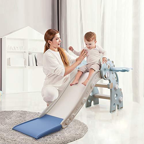 HAPPYMATY Kinderrutsche Mini Rutsche für Kleinkinder Rutsche Indoor...