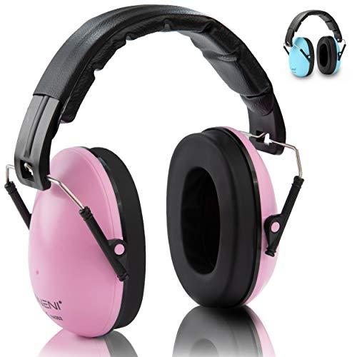 NENI Kinder Gehörschutz in Pink oder Blau - Premium Kapselgehörschutz von 1 bis 16 Jahre - mitwachsende und...