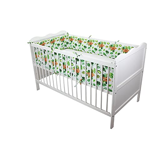 TupTam Baby Nestchen für Babybett Gemustert, Farbe: Faultiere,...