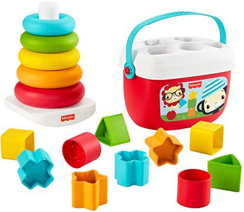Fisher-Price GRF11 - Fisher-Price Stapel & Sortier Spielset, Geschenkset, Kinderspielzeug aus pflanzlichen...