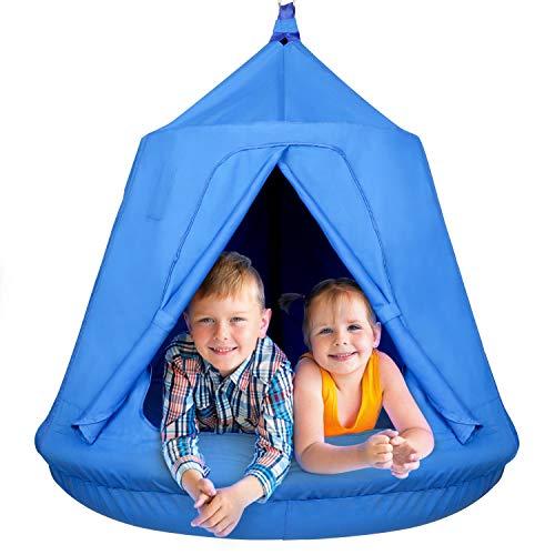 Nestschaukel mit Zelt Gartenschaukel Kinderschaukel Hängezelt...