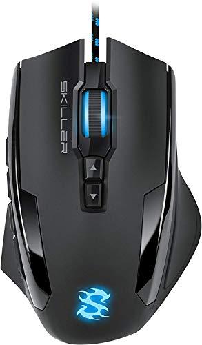 Sharkoon Skiller SGM1 Gaming Maus mit Makrotasten (10800 DPI,...