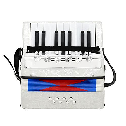 Gyj&mmm Mini Kleines Klavier Akkordeon 17 Tasten 8 Bass Pädagogisches...
