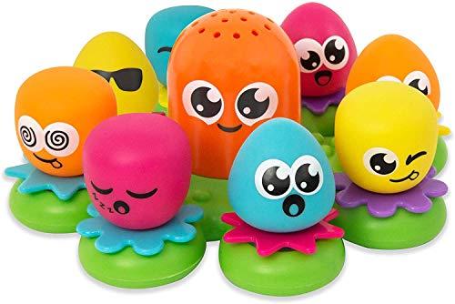 TOMY E2756 Wasserspiel für Kinder Okto Plantschis Mehrfarbig,...