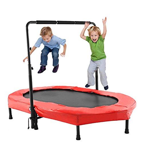 ANCHEER Kindertrampolin, Garten Trampolin für zwei Kinder Indoor /...