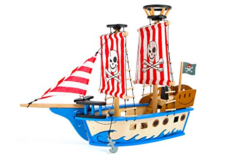 small foot 10469 Piratenschiff 'Jack' aus Holz, in bunten Farben, mit...