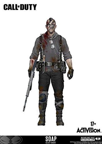Call of Duty McFarlane John Soap MacTavish Figur 15 cm Bloody Edition...