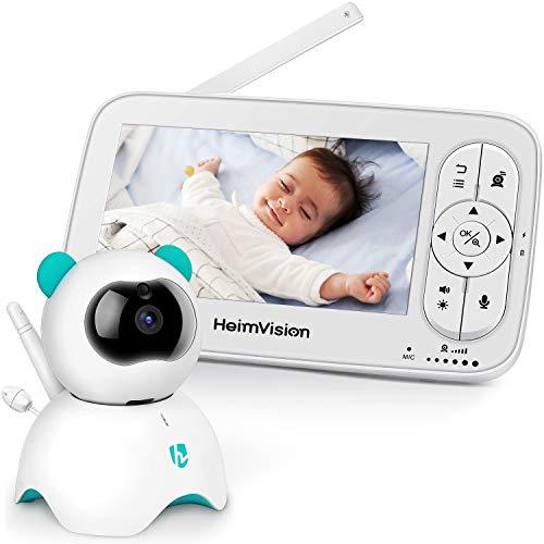 HeimVision Babyphone mit Kamera, 5 Zoll LCD Baby Monitor, HD 720P Video, Zwei Wege Audio, Temperatur und...