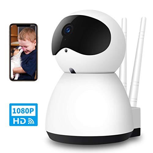 YONTEX Überwachungskamera WLAN IP Kamera 1080P HD, für Baby/Haustier Videoüberwachung, mit...