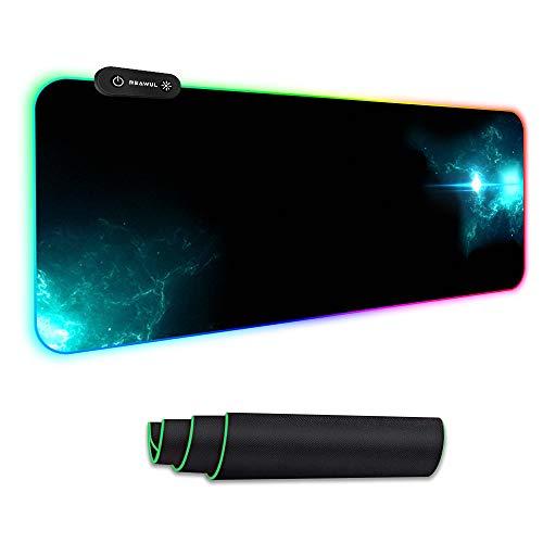 REAWUL RGB Gaming Mauspad Groß - 7 LED Farben 14...