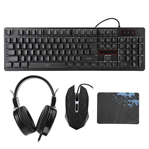 Hopcd Gaming-Tastatur & Maus & Headset Kabelgebundene...