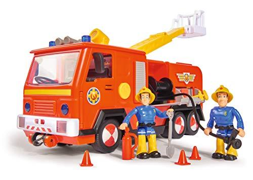 Simba 109251036 - Feuerwehrmann Sam Jupiter Feuerwehrauto 2.0, mit Sam und Elvis Figur, mit Licht und Sound,...