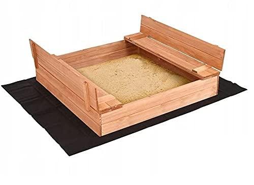 Radgermany Sandkasten Sandbox mit Deckel SITZBÄNKEN...